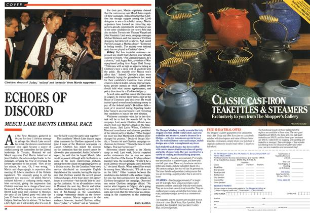 Article Preview: ECHOES OF DISCORD, June 1990 | Maclean's
