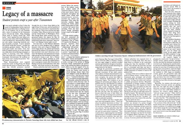Article Preview: Legacy of a massacre, June 1990 | Maclean's