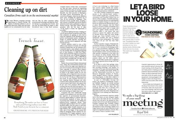Article Preview: Cleaning up on dirt, June 1990 | Maclean's
