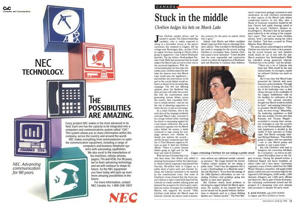 Article Preview: Stuck in the middle, June 1990 | Maclean's
