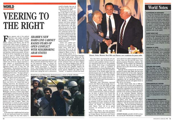 Article Preview: VEERING TO THE RIGHT, June 1990 | Maclean's
