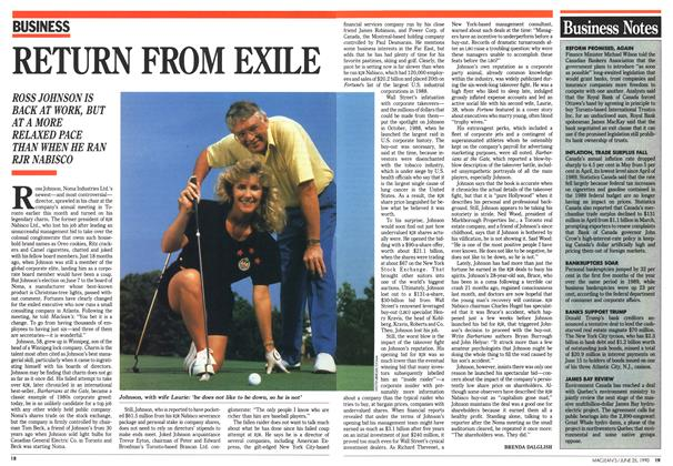Article Preview: RETURN FROM EXILE, June 1990 | Maclean's