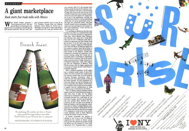 Article Preview: A giant marketplace, June 1990   Maclean's