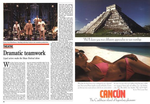 Article Preview: Dramatic teamwork, June 1990 | Maclean's
