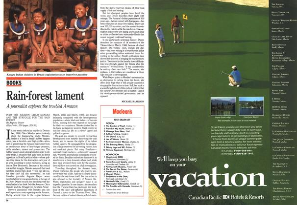 Article Preview: Rain-forest lament, June 1990 | Maclean's