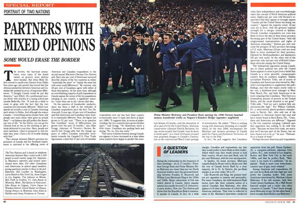 Article Preview: PARTNERS WITH MIXED OPINIONS, June 1990 | Maclean's