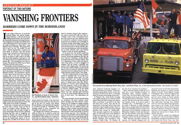 Article Preview: VANISHING FRONTIERS, June 1990 | Maclean's