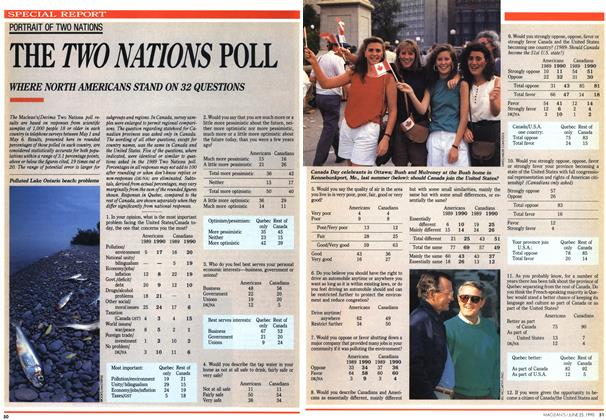 Article Preview: THE TWO NATIONS POLL, June 1990 | Maclean's