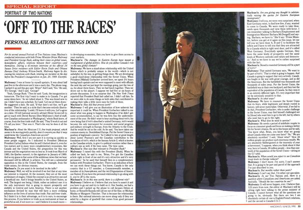 Article Preview: 'OFF TO THE RACES', June 1990 | Maclean's