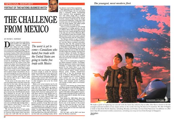 Article Preview: THE CHALLENGE FROM MEXICO, June 1990 | Maclean's