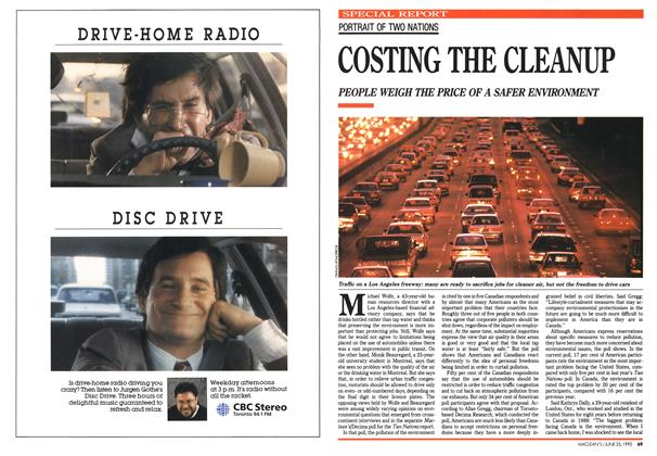 Article Preview: COSTING THE CLEANUP, June 1990 | Maclean's