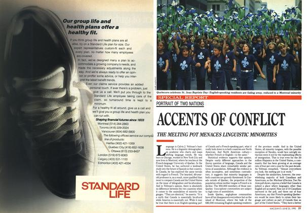 Article Preview: ACCENTS OF CONFLICT, June 1990 | Maclean's