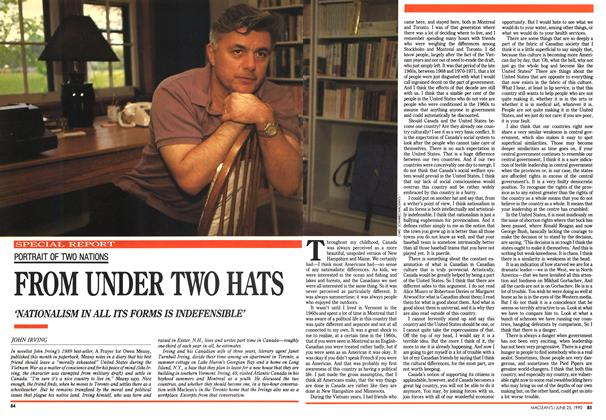 Article Preview: FROM UNDER TWO HATS, June 1990 | Maclean's