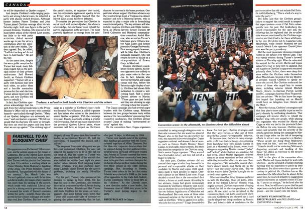 Article Preview: FAREWELL TO AN ELOQUENT CHIEF, July 1990   Maclean's