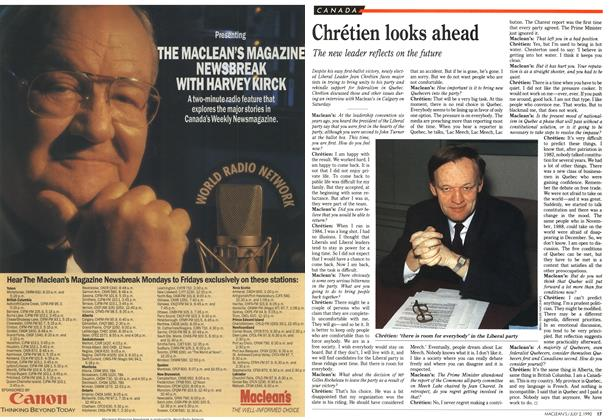 Article Preview: Chrétien looks ahead, July 1990   Maclean's
