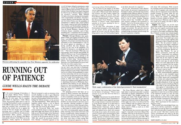 Article Preview: RUNNING OUT OF PATIENCE, July 1990 | Maclean's