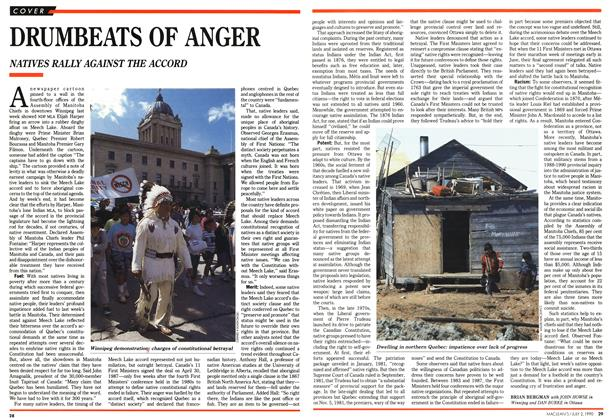 Article Preview: DRUMBEATS OF ANGER, July 1990 | Maclean's