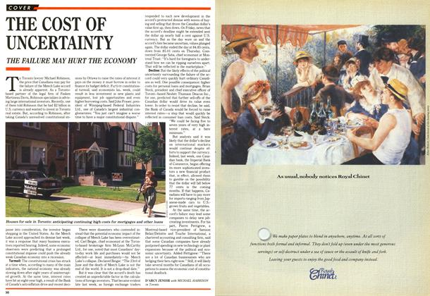 Article Preview: THE COST OF UNCERTAINTY, July 1990 | Maclean's