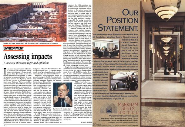 Article Preview: Assessing impacts, July 1990 | Maclean's