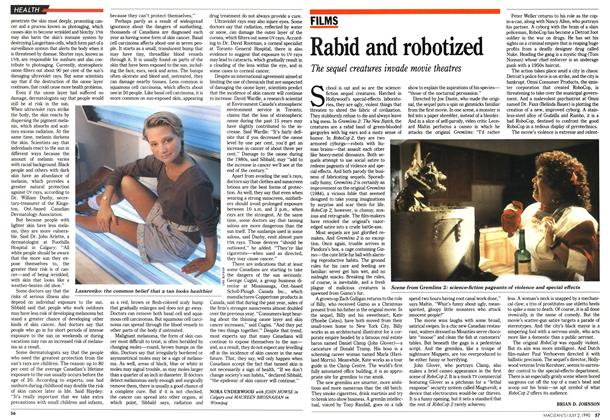 Article Preview: Rabid and robotized, July 1990 | Maclean's