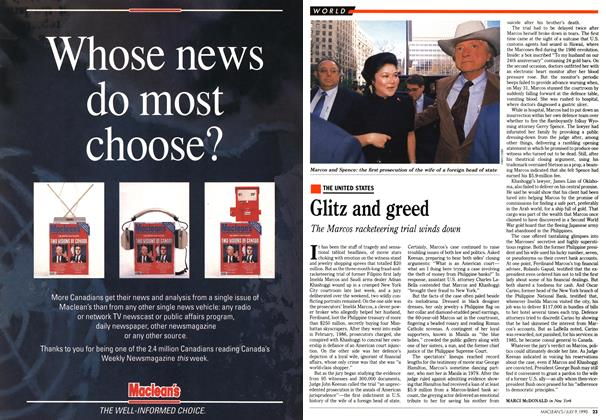 Article Preview: Glitz and greed, July 1990 | Maclean's