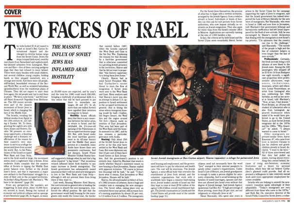 Article Preview: TWO FACES OF ISREAL, July 1990 | Maclean's