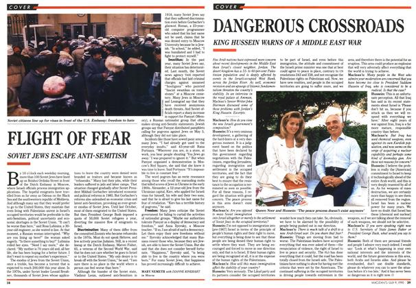 Article Preview: FLIGHT OF FEAR, July 1990 | Maclean's