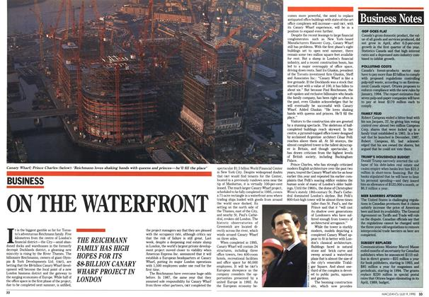 Article Preview: ON THE WATERFRONT, July 1990 | Maclean's