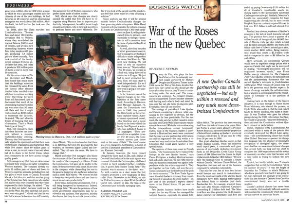 Article Preview: War of the Roses in the new Quebec, July 1990 | Maclean's