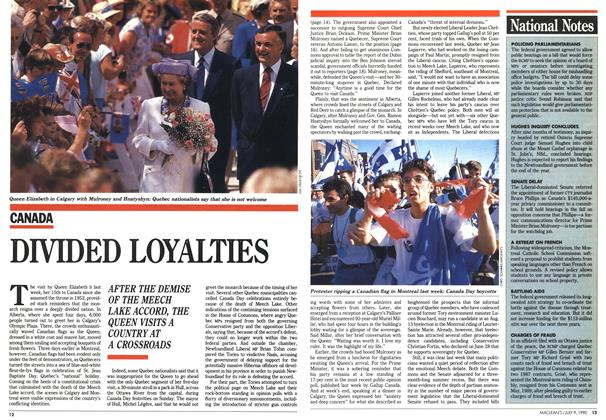 Article Preview: DIVIDED LOYALTIES, July 1990 | Maclean's