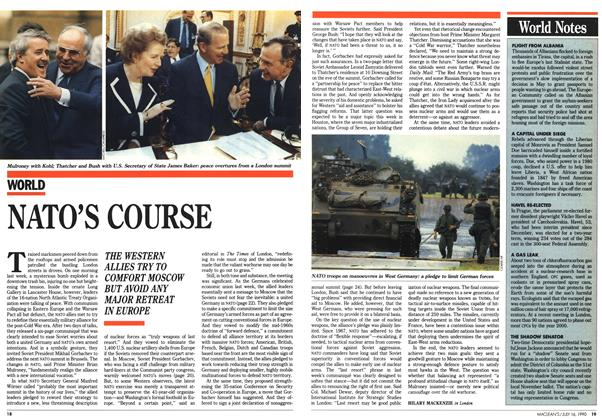 Article Preview: NATO'S COURSE, July 1990 | Maclean's