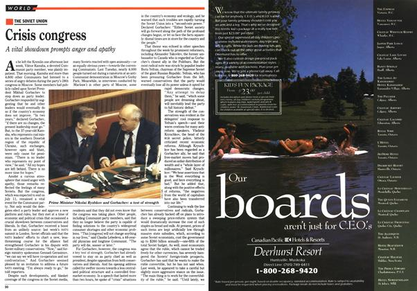 Article Preview: Crisis congress, July 1990 | Maclean's