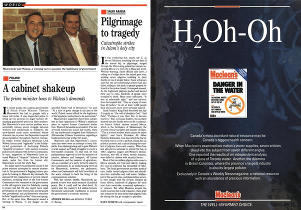 Article Preview: A cabinet shakeup, July 1990 | Maclean's