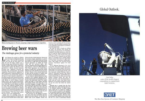 Article Preview: Brewing beer wars, July 1990 | Maclean's