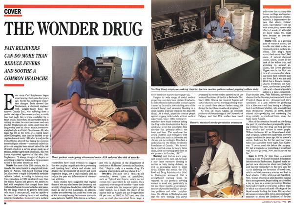 Article Preview: THE WONDER DRUG, July 1990 | Maclean's