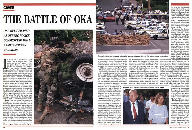 Article Preview: THE BATTLE OF OKA, July 1990 | Maclean's