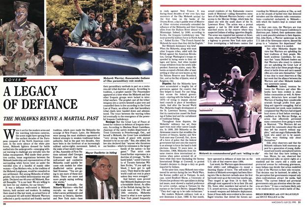 Article Preview: A LEGACY OF DEFIANCE, July 1990 | Maclean's