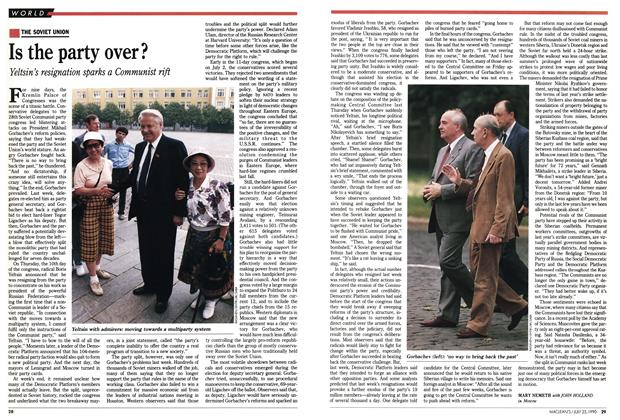 Article Preview: Is the party over?, July 1990 | Maclean's