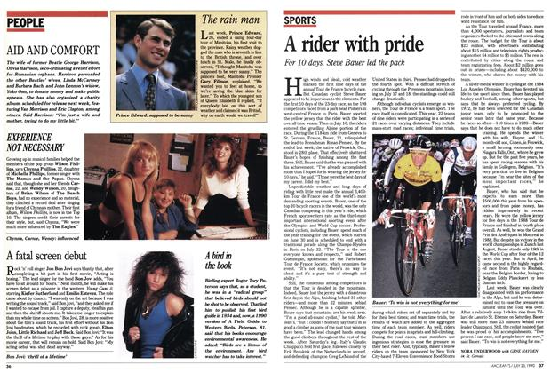 Article Preview: A rider with pride, July 1990 | Maclean's