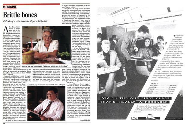 Article Preview: Brittle bones, July 1990 | Maclean's