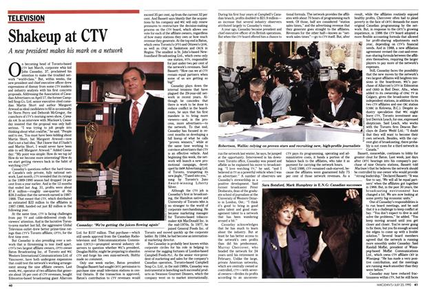 Article Preview: Shakeup at CTV, July 1990 | Maclean's