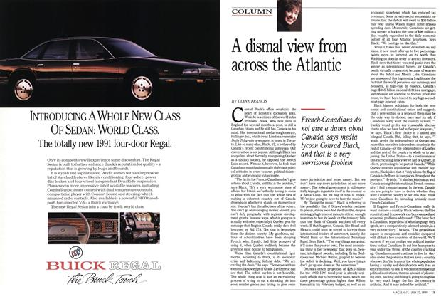Article Preview: A dismal view from across the Atlantic, July 1990 | Maclean's