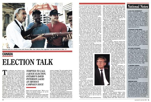 Article Preview: ELECTION TALK, July 1990 | Maclean's