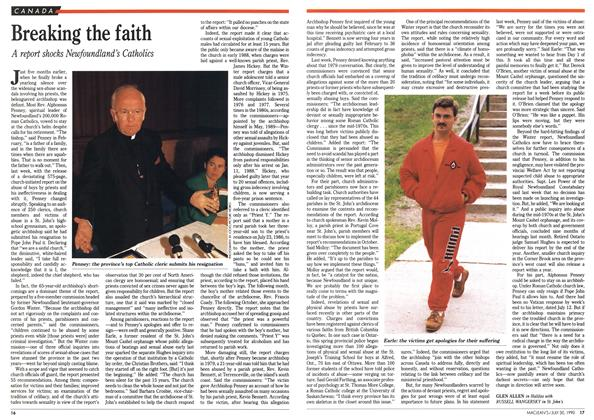Article Preview: Breaking the faith, July 1990 | Maclean's
