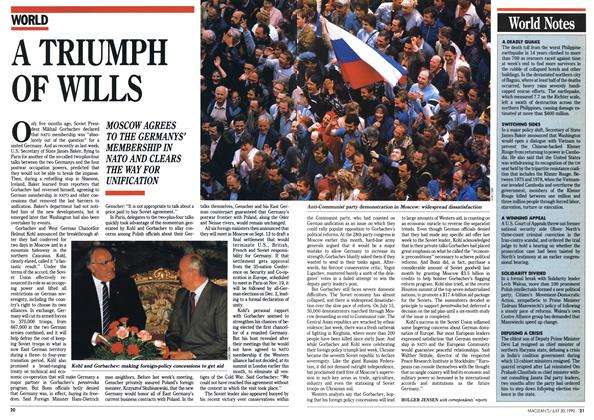 Article Preview: A TRIUMPH OF WILLS, July 1990 | Maclean's