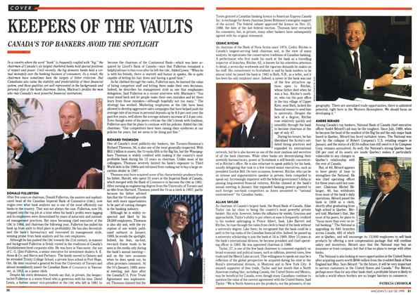Article Preview: KEEPERS OF THE VAULTS, July 1990 | Maclean's