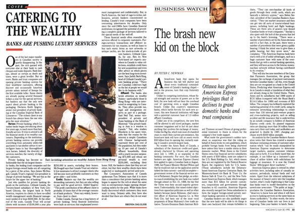 Article Preview: CATERING TO THE WEALTHY, July 1990 | Maclean's
