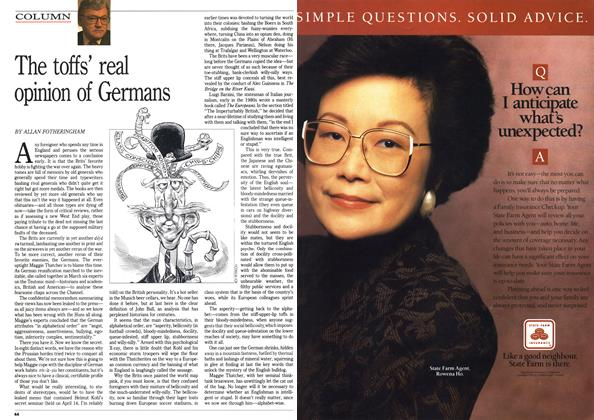 Article Preview: The toffs' real opinion of Germans, July 1990 | Maclean's