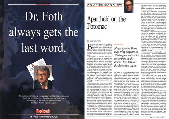 Article Preview: Apartheid on the Potomac, July 1990 | Maclean's