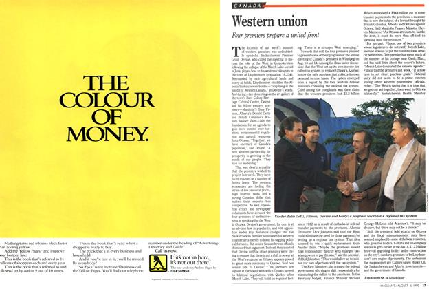 Article Preview: Western union, August 1990 | Maclean's